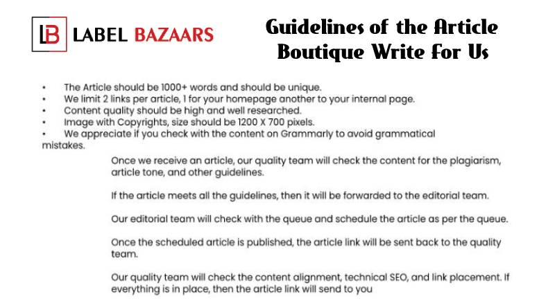 Guidelines Boutique write for us