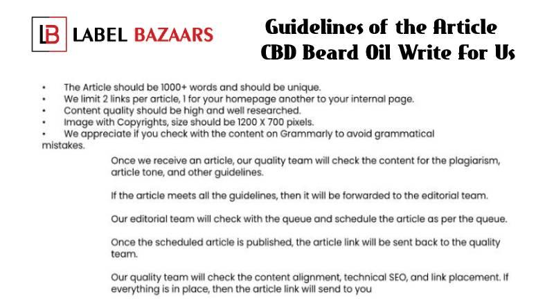 Guidelines CBD Beard Oil Write For Us