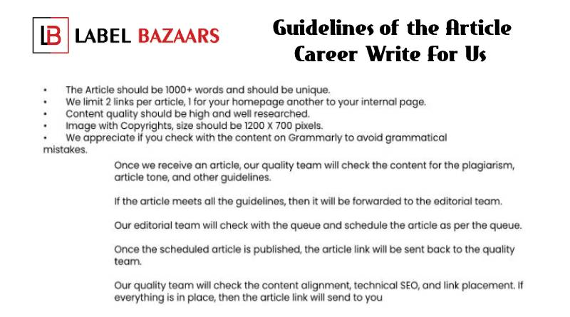Guidelines Career Write For Us