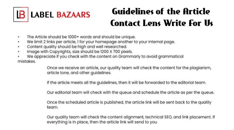 Guidelines Contact lens write for us