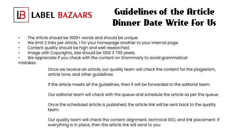 Guidelines Dinner Date Write For Us