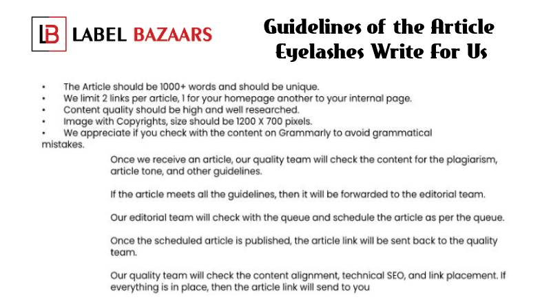 Guidelines Eyelashes Write For Us
