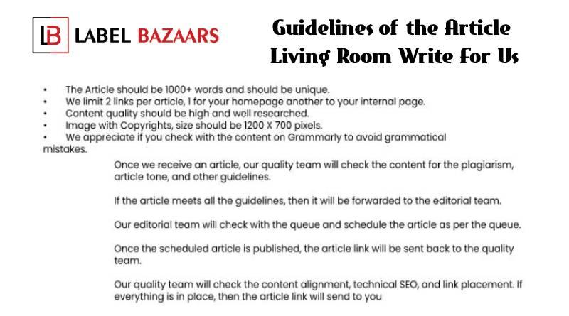 Guidelines Living room write for us