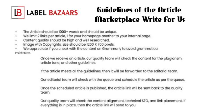 Guidelines Marketplace Write For Us