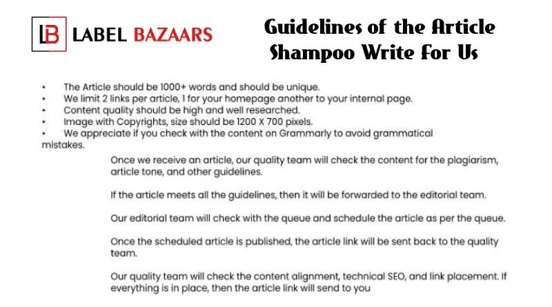 Guidelines shampoo write for us