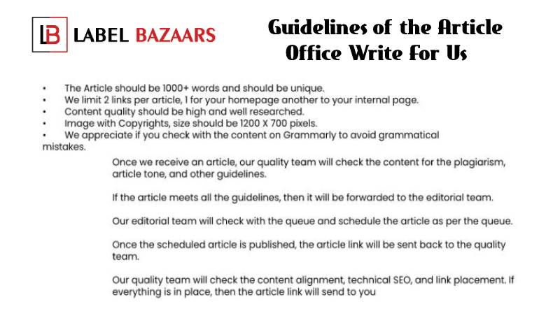 Guidelines Office write for us