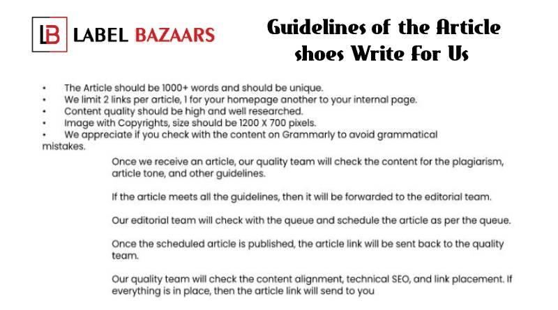 Guidelines Shoes Write for Us