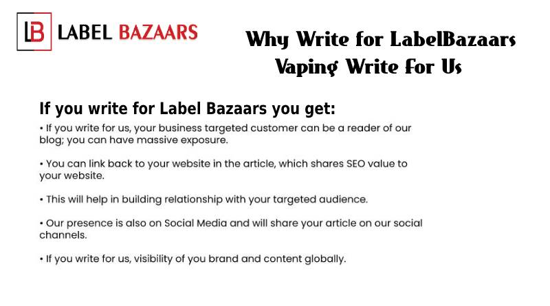 Why Write for Vaping Write for Us