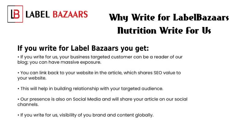 Why Write for Nutrition Write for Us