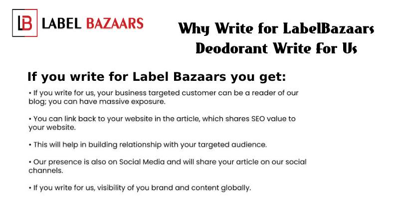 Why write for Deodorant Write For Us