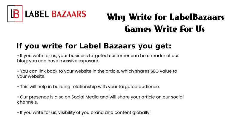 Why write for Games Write For Us