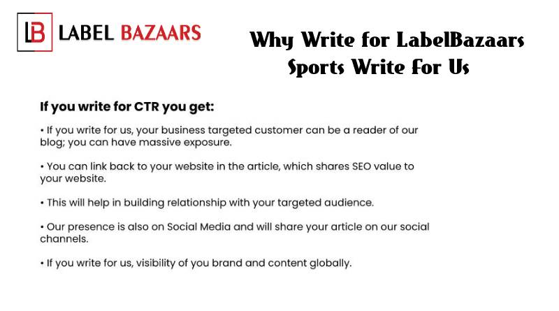 Why write for Sports Write For Us