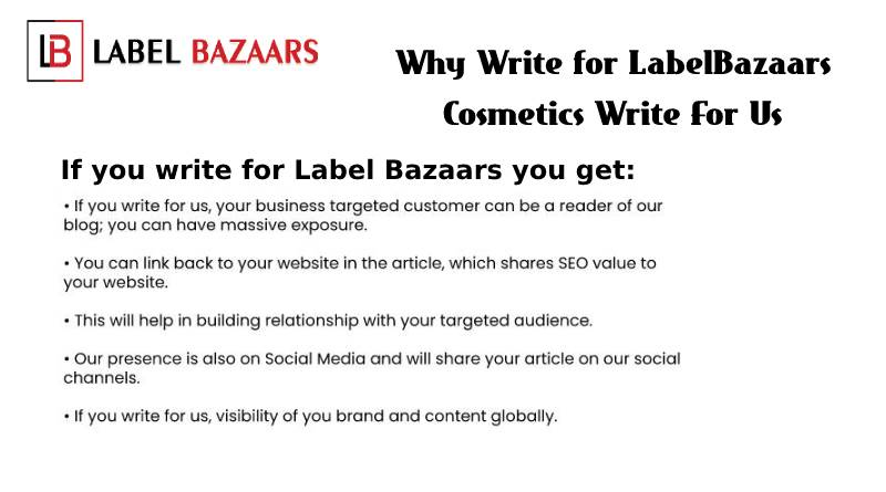 why write for Cosmetics Write For Us