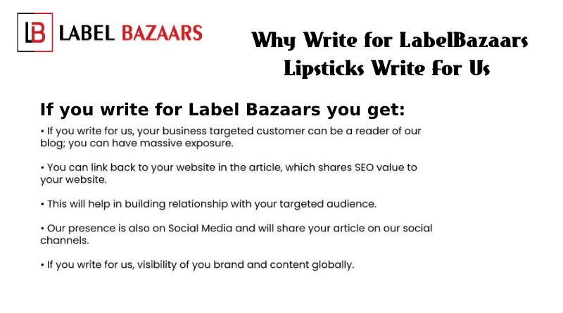 why write for Lipsticks Write For Us