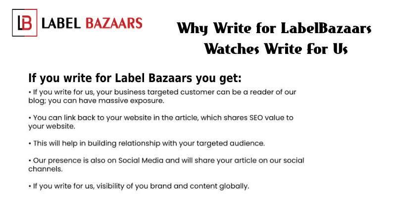 why write for watches write for us